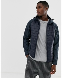 Esprit Quilted Body Jacket In Navy