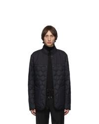 Z Zegna Reversible Black Quilted Jacket