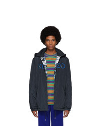 Kenzo Reversible Navy World Jacket