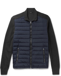 Tom Ford Ribbed Merino Wool And Quilted Shell Down Jacket