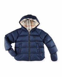Burberry Rilla Hooded Raglan Puffer Jacket Navy Size 6m 3y
