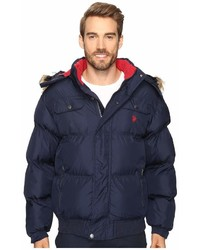 U.S. Polo Assn. Short Snorkel Jacket With Faux Fur Hood