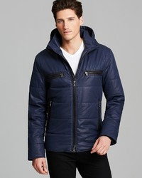 John Varvatos Usa Double Collar Hooded Quilted Puffer