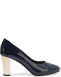 Lanvin Patent Leather Pumps Navy