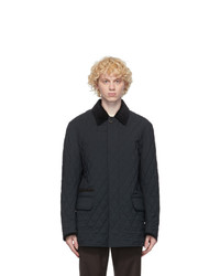 Brioni Navy Quilted Field Jacket