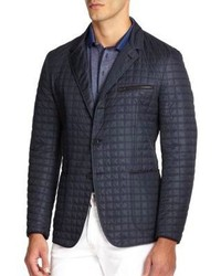 Navy Quilted Blazer