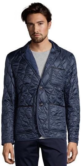 Brit Navy Diamond Quilted Gillington Blazer Jacket