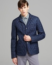 Burberry Brit Howe Quilted Blazer Jacket In Black