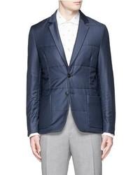 Paul Smith London Check Padded Wool Hopsack Blazer