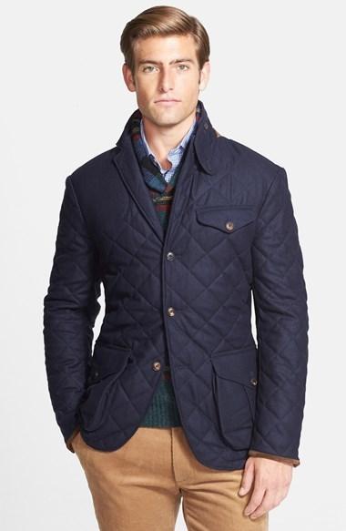 ... Polo Ralph Lauren Polo Ralph Lauren Quilted Wool Blend Three-Button Sport  Coat