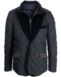 Etro Quilted Single Breasted Blazer Jacket