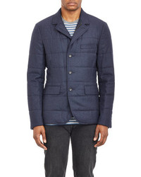 Vince Quilted Three Button Sportcoat Navy