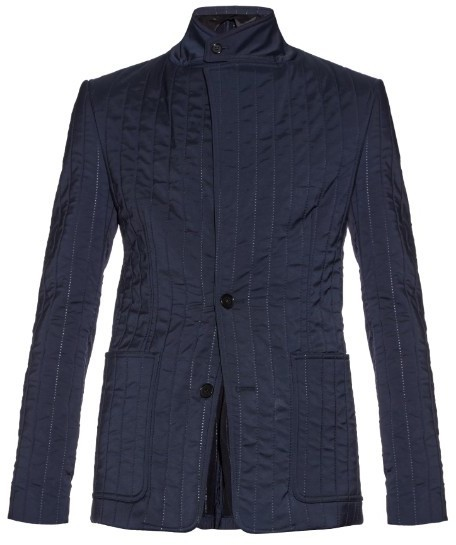 Maison Margiela Slim Fit Slightly Padded Quilted Blazer | Where to ... : quilted blazer - Adamdwight.com