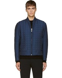 Calvin Klein Collection Navy Quilted Bomber Jacket