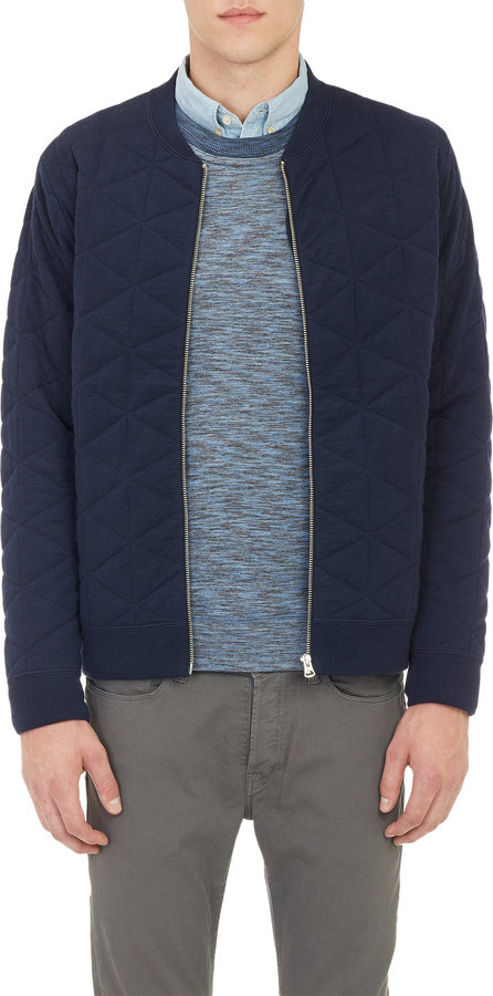 Paul Smith Jeans Diamond Quilted Bomber Jacket Where To Buy How