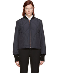 See by Chloe See By Chlo Navy Quilted Bomber Jacket