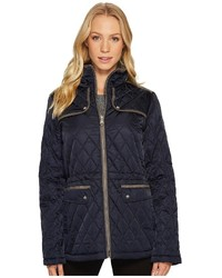 Vince Camuto Quilted Jacket With Faux Suede Contrast Detail N8841 Coat