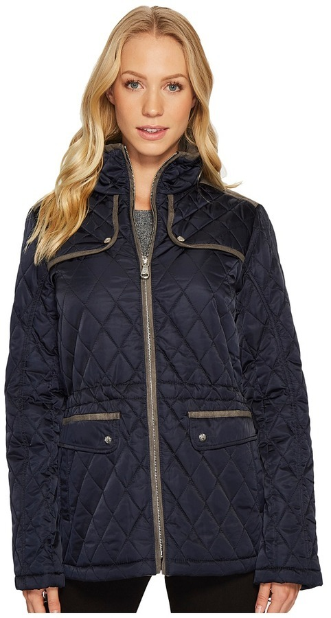 612a273147 $198, Vince Camuto Quilted Jacket With Faux Suede Contrast Detail N8841 Coat