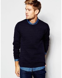 Esprit Quilted Knitted Sweater
