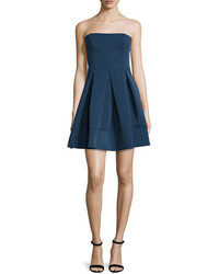 Halston Heritage Strapless Quilted Dress Catalina