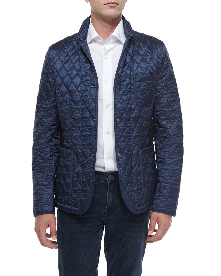 Burberry Brit Howe Quilted Jacket Navy   Where to buy   how to wear 898bb3658b0