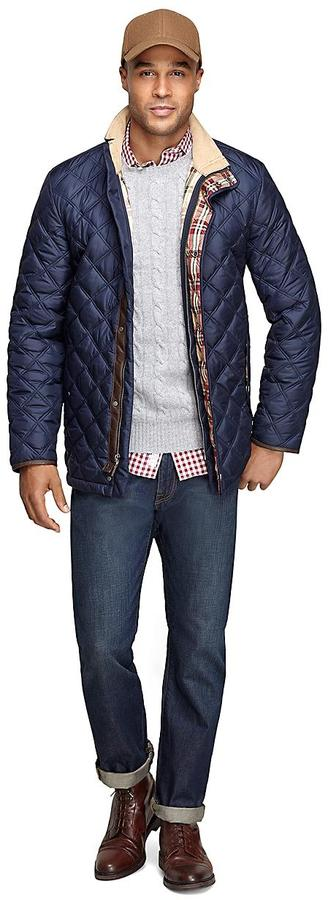 Brooks Brothers Quilted Jacket | Where to buy & how to wear : navy quilted jacket - Adamdwight.com