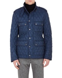 Burberry London Diamond Quilted Field Jacket Navy