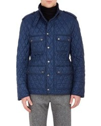 Burberry London Diamond Quilted Field Jacket Blue