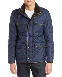 Cole Haan Quilted Four Pocket Field Jacket