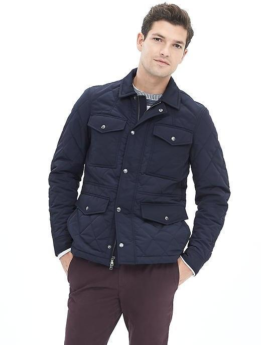 Banana Republic Quilted Four Pocket Jacket | Where to buy & how to ... : how to wear quilted jacket - Adamdwight.com