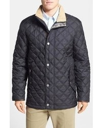 Brooks Brothers Regular Fit Quilted Jacket With Tartan Lining