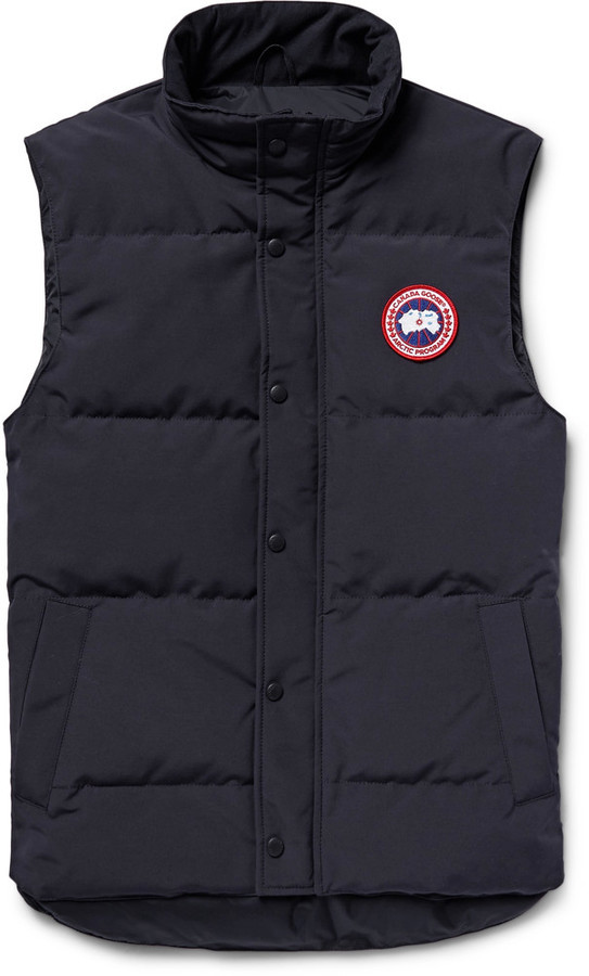 Men's Fashion › Jackets › Gilets › Navy Quilted Gilets Canada Goose Canada Goose Garson Quilted Shell Down Gilet