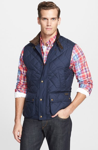 ... Navy Quilted Gilets Polo Ralph Lauren Diamond Quilted Vest ...