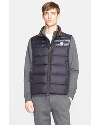 Moncler Dupres Two Tone Quilted Down Vest