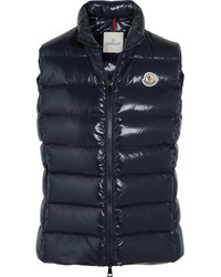 Moncler Ghany Quilted Shell Down Gilet Navy