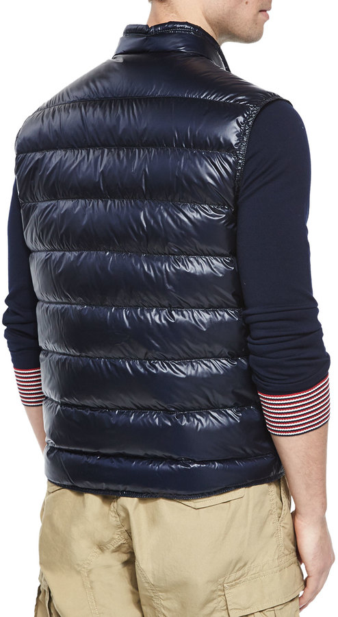642088ae8 Gui Quilted Puffer Vest Navy