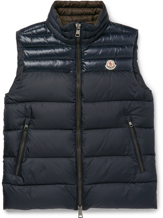 ... Moncler Moncler Dupres Quilted Shell Down Gilet
