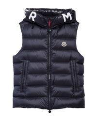 Moncler Montreuil Logo Water Resistant Lightweight Down Puffer Vest