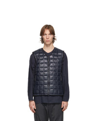 TAION Navy And Black Zip Vest