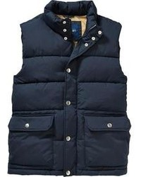 Old Navy Quilted Canvas Frost Free Vests