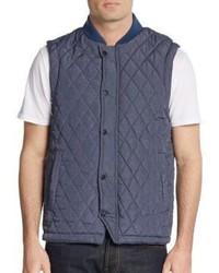 Saks Fifth Avenue Heathered Nylon Vest
