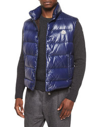 Tib puffer vest navy medium 676765