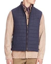 Luciano Barbera Wool Tweed Vest
