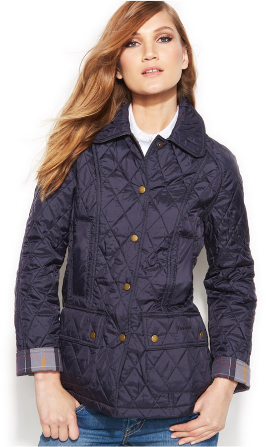 Navy Quilted Jacket: Barbour Summer Beadnell Quilt Jacket ...
