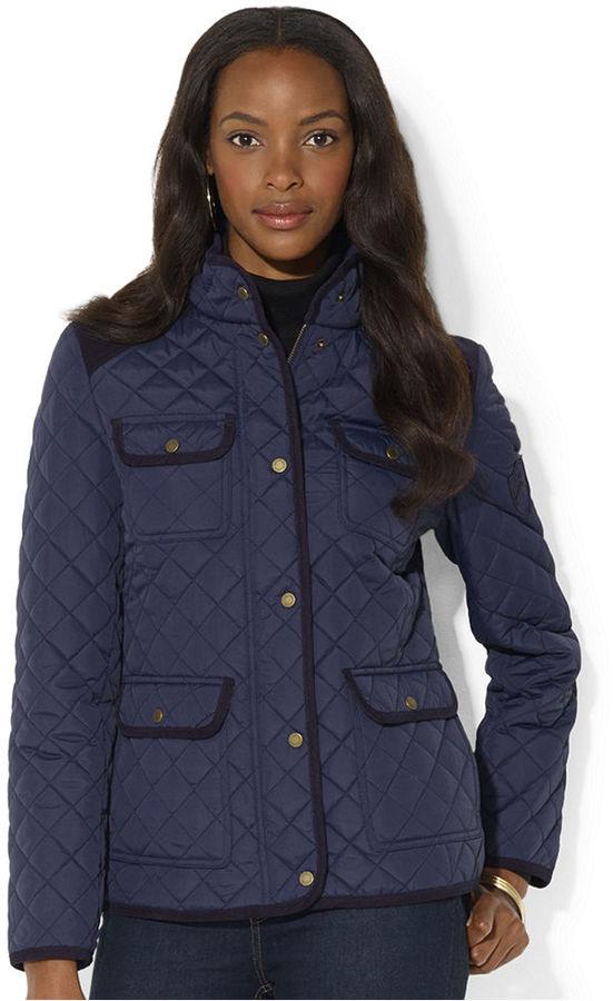 Lauren Ralph Lauren Corduroy Trim Quilted Barn Jacket Web Id ... : ralph lauren jacket quilted - Adamdwight.com