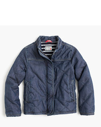 J.Crew Girls Quilted Chambray Jacket