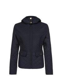 New Look Navy Quilted Hooded Jacket