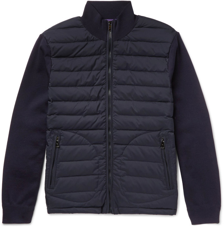 Ralph Lauren Purple Label Quilted Shell And Wool Blend Jacket ... : purple quilted jacket - Adamdwight.com