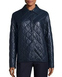 The Row Bastian Quilted Leather Coat