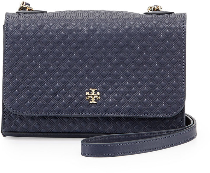 8faf68c29ab ... Tory Burch Marion Quilted Shrunken Shoulder Bag Tory Navy ...